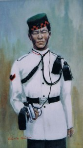 2nd Gurkha Bugler, oil,commissioned by Brig. Christopher Bullock OBE MC