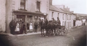 You can see the shopfront of Glynsawyl or Sawyl House, the draper's, under the raised roof toward the far end of the terrace.  The photograph was taken around 1890, while Evan Price was still the proprietor.  Fred had probably gone to Swansea by this time.
