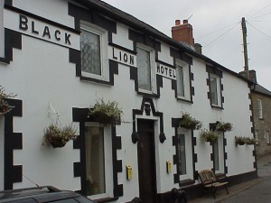 The Black Lion Hotel in the middle of the village main street