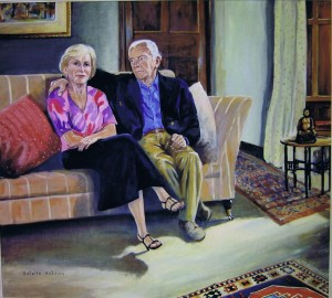 John and Bartbara Wilcox, oil on canvas, 2011