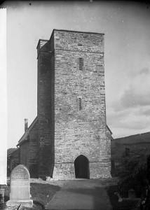 St Sawyls viewed from, the gate to the churchyard, photograph taken about 1895, by the great Welsh photographer John Thomas